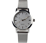 Exquisite Fashion Silver Steel Belt Ladies Watch