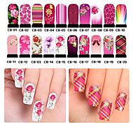 1PCS  Nail Water Transfer Whole Paste Stickers
