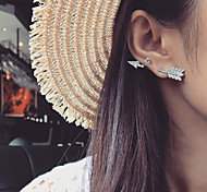 Women's Fashion Fashion Simple Sen Metal Leaf Earrings