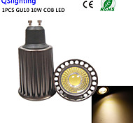 1PCS GU10 10W 3000K 1High Power COB LED SpotLight AC85-265V(Higher cooling efficiency&High quality&Restore ancient ways)