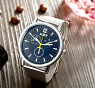Fashion Vintage Design Stainless Steel Mesh Belt Quartz Wrist Watch for Men and Women