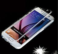 caso macio ginásio clara visão toque aleta TPU para Samsung Galaxy S6 g9200 (cores sortidas)