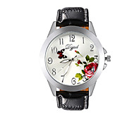 Men's and Women's Fashion New Elegant Flowers Round Steel Chinese Watch Movement(Assorted Colors)