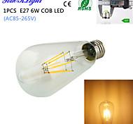 E27 ST64 6W COB Filament Energy Saving Incandescent Bulb Retro Edison Light Bulb AC 85-265V/220V