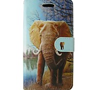 Orange Elephant Painted PU Phone Case for Galaxy Grand Prime/Core Prime/Core 2 G355H/Trend Duos S7562/Trend Lite