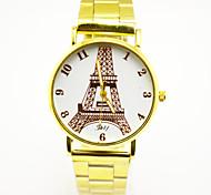 Masculino Relógio de Pulso Quartzo Lega Banda Dourada