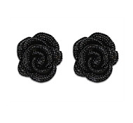 Korean Version Of The Lovely Ladies Rose Flowers Earrings