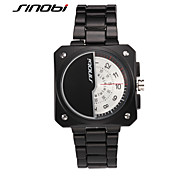 SINOBI® Mens Automatic Watch Tungsten Militaryes Waterproof Two Turntables Male Black Square Business Watches Wrist Watch Cool Watch Unique Watch