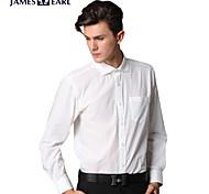 JamesEarl Men's Shirt Collar Long Sleeve Shirt & Blouse White - DA112030325
