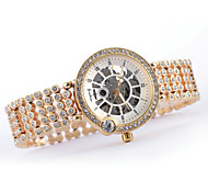 Women's Hollow Full Automatic Diamante Round Dial Stainless Steel Band Machine Analog Wrist Watch(Assorted Color) Cool Watches Unique Watches