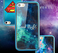 Special Blue Star Sky Luxury Art Print Painted Soft TPU & PC Plating Frame Back Phone Case For IPhone 6 6S 4.7 Inch