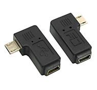cy® mini usb femmina a destra ea sinistra girando l'adattatore micro USB maschio