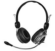 3.5mm dobráveis fones de ouvido estéreo Fones de ouvido Headset controlador cabo destacável para pc iphone4 / 5
