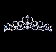 Heart Bridal Crown Handmade Pave AAA CZ Tiara Wedding Party Hair Jewelry Accessories