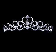 Heart Bridal Crown Handmade Pave AAA CZ Tiara Wedding Party Hair Jewelry AccessoriesImitation Diamond Birthstone