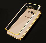 galvanoplastie TPU matériau de téléphone pour Samsung Galaxy J5 / J7 / O5 / ON7