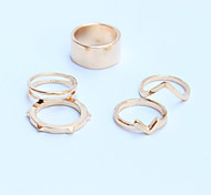 New Arrival Fashional Simple Geometric Rings A Set
