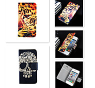 Butch Skeleton Pattern PU Leather Full Body Case for iPhone 4/4S