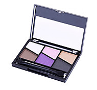 6 Eyeshadow Palette Matte / Mineral Eyeshadow palette Powder Normal Daily Makeup / Halloween Makeup / Party Makeup