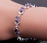 Top Quality AAA Zircon Bracelet Fine Jewelry ,Elegant PurpleImitation Diamond Birthstone