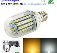 YouOKLight® 1PCS E27 12W 1000lm 90-2835SMD 3000K/6000K High brightness &long life 45,000H LED Light AC110-120V/220-240V