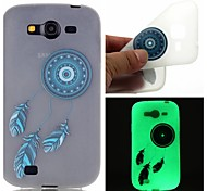 Blue Bells Luminous Dream Catcher Pattern Sofe TPU Case for Samsung Galaxy I9060/G530/G360/J3/J1 ACE/ON5/ON7