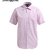 JamesEarl Men's Shirt Collar Short Sleeve Shirt & Blouse Pink - M21X5000302