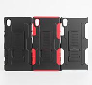 2 em 1 caso design de pele de plástico rígido + capa de silicone macio exterior para Sony Xperia Z5 (cores sortidas)