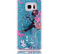 Para Samsung Galaxy Note Liquido Flutuante Capinha Capa Traseira Capinha Desenho PC Samsung Note 5 / Note 4 / Note 3