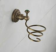 2016 Europe Antique Bathroom Hair Dryer Holder Copper Bathroom Shelves AU280