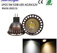 Faretti 1 COB YouOKLight R63 GU5.3(MR16) 5 W Decorativo 400 LM Bianco caldo / Luce fredda 1 pezzo DC 12 / AC 12 / AC 110-130 V
