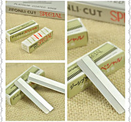 1Set Special Stainless Steel Alloy Blade Eyebrow Eyebrow Shaver / Scraping Eyebrow Razor Blade(10 / Box)