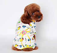Dog Costume / Shirt / T-Shirt / Clothes/Jumpsuit / Pajamas / Outfits Multicolored Spring/Fall CartoonCosplay / Valentine / Holiday / New