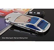 Sanlead Blue Liquid+Red Car+Racing Driver PC With Liquid With Flotage Back Case For Iphone5,5S,5C(Assorted Colors)