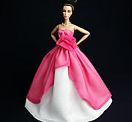 Barbie Doll - Abiti - Party & Sera - di Organza / Pizzo - Rosso - Abiti