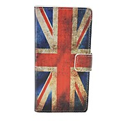 uk nationale étui en cuir flip motif de drapeau pour l'iphone 5 / 5s couverture sacs