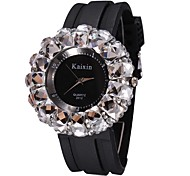 Kaixin large dial diamond rhinestone ladies watch crystal watches big women's fashion watch