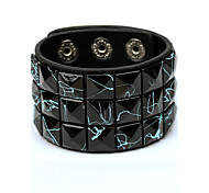 Candy Color Wide Band Leather Bracelets