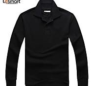 Lesmart Hommes Mao Manche Longues Hoodie Sweat & Noir / Blanc / Violet - MDT1132