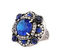 Ring Crystal Crystal Resin Rhinestone Alloy Fashion Blue Dark Red Assorted Color Jewelry Wedding Party Daily Casual 1pc
