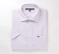 JamesEarl Men's Shirt Collar Short Sleeve Shirt & Blouse Purple - DA172029518