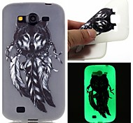 Wolf Feathers Luminous Dream Catcher Pattern Sofe TPU Case for Samsung Galaxy I9060/G530/G360/J3/J1 ACE/ON5/ON7