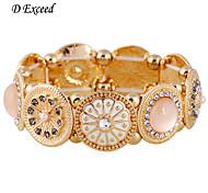 D Exceed Valentine's Sale Handmade Silver Enamel Flower Bracelet