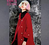 ELFSACK Femme Col Arrondi Manches 3/4 Laine et Mélanges Bleu / Rouge - 1432084