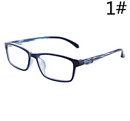 [Free Lenses]  Men / Women / Unisex 's Memory Titanium Rectangle Half-Rim Classic / Lightweight Prescription Eyeglasses