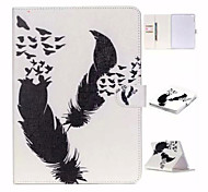 Black White and Double Feather TPU Textile Cloth Card Slot Stents The Cladding For Apple iPad Air 2