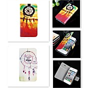 For iPhone 5 Case Card Holder / Flip Case Full Body Case Dream Catcher Hard PU Leather iPhone SE/5s/5 / iPhone 4s/4