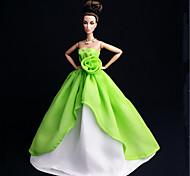 Barbie Doll - Abiti - Party & Sera - di Organza / Pizzo - Verde chiaro - Abiti