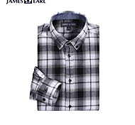 JamesEarl Men's Shirt Collar Long Sleeve Shirt & Blouse Black - DA112049226