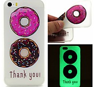 donas dobles de color luminoso caso del tpu patrón sofe colector ideal para 6s iphone plus